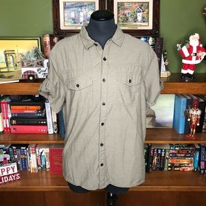 Divided Button Down Short Sleeved